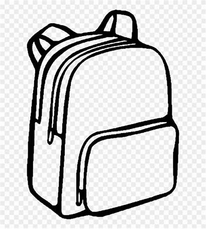Svg Backpack Drawing Library Clipart Bag Coloring