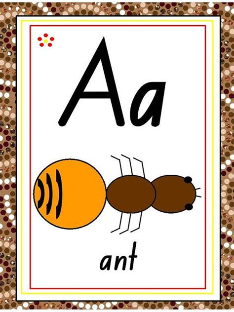 aboriginal abc chart flash cards letter tracing abc