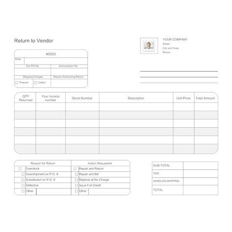 return  vendor form