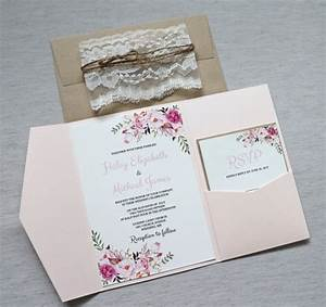 lace wedding invitations floral bohemian wedding invitation With boho wedding invitations with lace