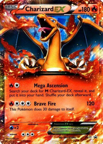 Here comes the great team rocket! Pokemon XY Charizard XY17 EX Holo Normal/Regular Size Promo Card   eBay