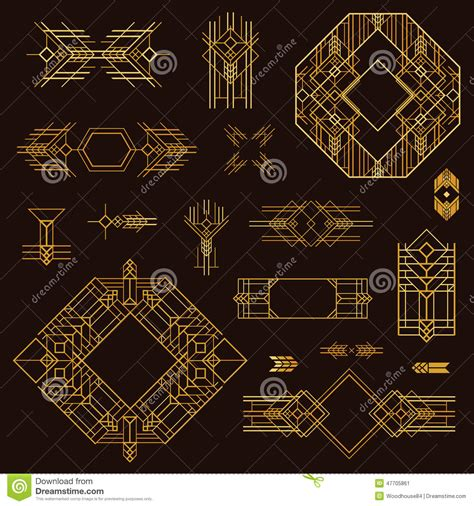deco design elements art deco vintage frames stock vector image 47705861