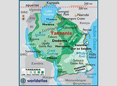 Tanzania Large Color Map