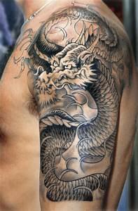 Drachen Tattoo Oberarm : japanische tattoo motive ~ Frokenaadalensverden.com Haus und Dekorationen