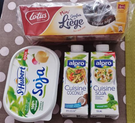 is margarine vegan lotus chocolate waffles st hubert vegan margarine and alpro dairy free milks from monoprix