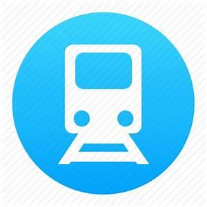 Blue, metro, subway, train, tram, transport icon | Icon ...