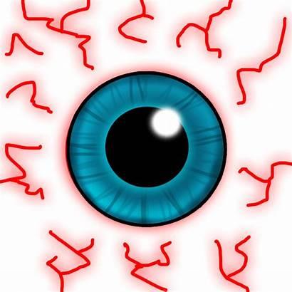 Bloodshot Clipart Eyes Cartoon Eye Blood Crazy