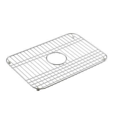 kohler mayfield 12 1 2 in x 19 in bottom sink basin rack