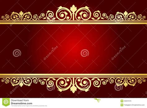 royal background  decorated frame stock vector image