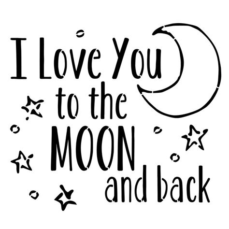 I You To The Moon And Back Kleurplaat by Designer Stencils Quot I You To The Moon And Back