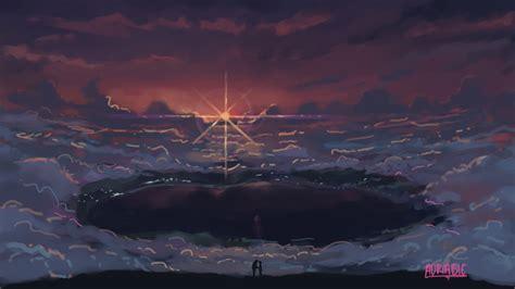 Kimi No Na Wa Background Your Name Anime Scenery Clouds Wallpaper 38841