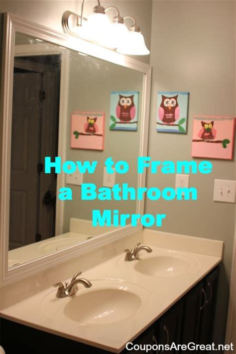 How Do You Frame A Bathroom Mirror by How To Frame A Bathroom Mirror With Moulding