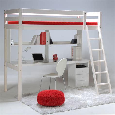 lit mezzanine bureau ikea lit mezzanine sapin 90x190cm sommier bureau et caisson