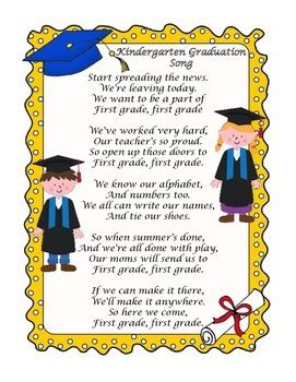 kindergarten graduation songs by teach ones tpt 119 | original 1325821 1