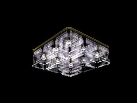 Crystal square ceiling light 3d model 3dsMax files free