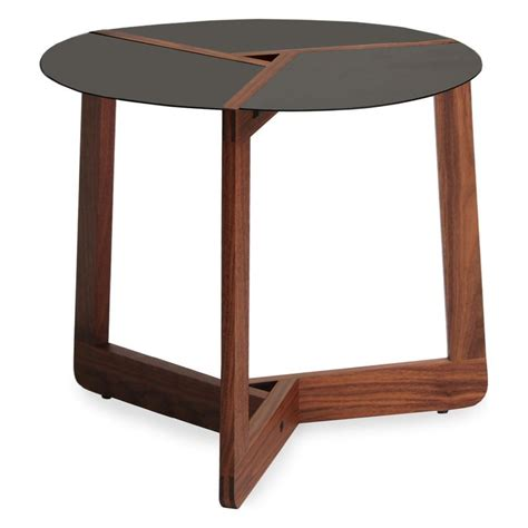 The pi coffee table has a unique design. BLU DOT Pi Small Side Table | Modern side table, Small end tables, Small round side table