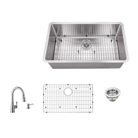 schon kitchen sinks schon all in one undermount stainless steel 32 in single