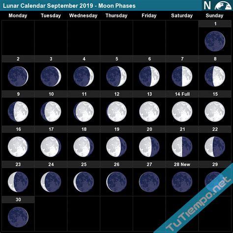 lunar calendar september  moon phases