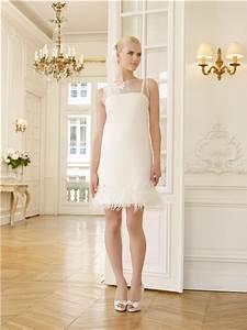 elegant illusion neckline lace applique feather short With robe pour femme forte et petite
