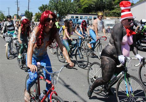 seattle fremont solstice parade  naked cyclists flickr