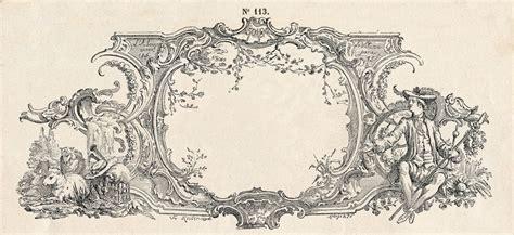 Free Vintage Clip Art  Gorgeous French Frame Engraving