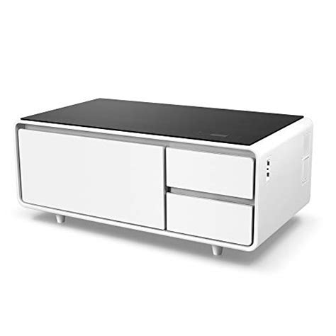 4.5 out of 5 stars 1,535 Sobro SOCTB300WHBK Coffee Table with Refrigerator Drawer Bluetooth Speakers, LED Lights, USB ...