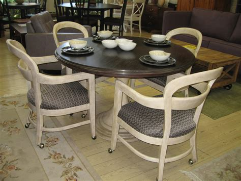 kitchen table with chairs on wheels vintage chairs with wheels the home redesign