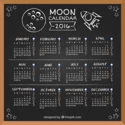 2016 2017 Moon Phase Calendar
