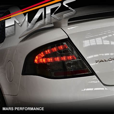 smoked led tail lights  ford falcon fpv fg sedan xt