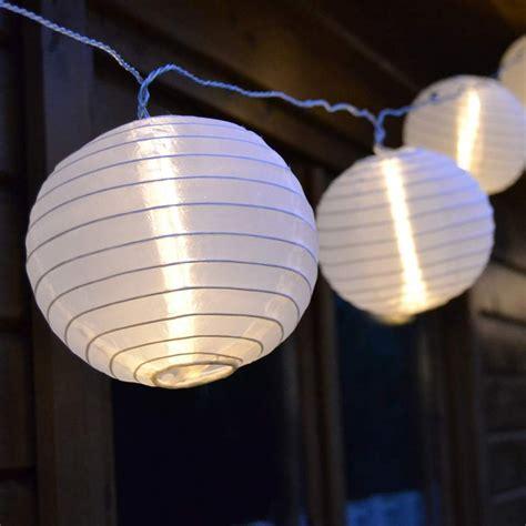 Lampionledlichterkette Garten Außen