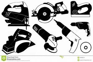Power tools stock vector Illustration of black, various
