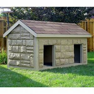 Hi tech large duplex insulated dog house dog houses for for Duplex dog house for sale