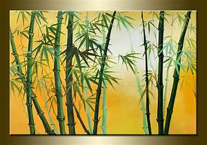 Red Bamboo Trees Hand Painted Canvas Oil Painting - Simply ...