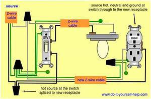 Wiring Diagram For Light Switch To Outlet