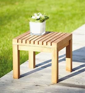 Beistelltisch Garten Holz : beistelltisch garten teak 35x35 cm im greenbop online shop kaufen ~ Indierocktalk.com Haus und Dekorationen