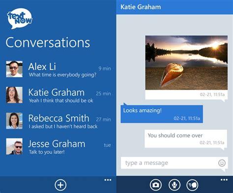 textnow text messaging app    windows phone