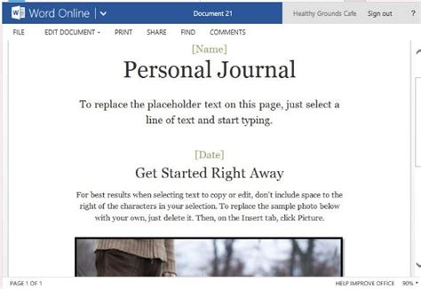 is journaling a word personal journal template for word online