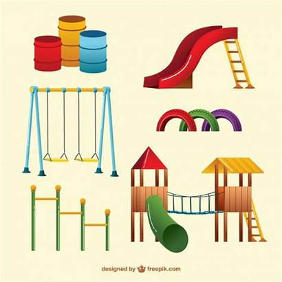 Playground Swings Vector Park Vectors Colorful Psd