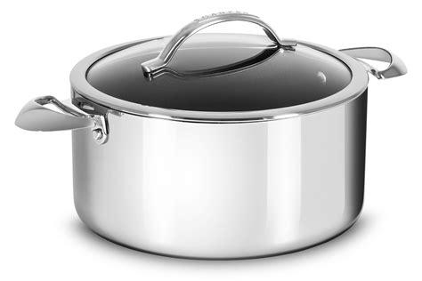 scanpan haptiq stainless steel nonstick dutch oven  quart cutlery