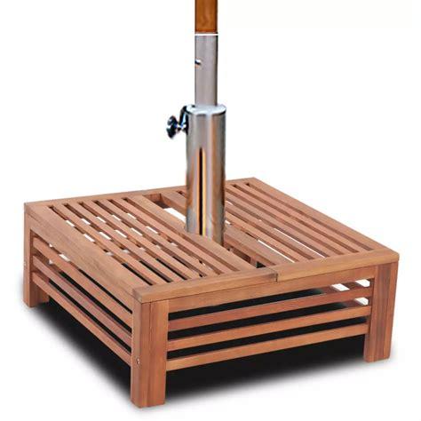 vidaxl patio umbrella base wooden outdoor garden acacia