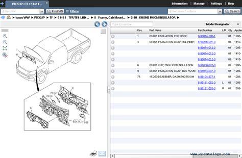 isuzu worldwide  spare parts catalog