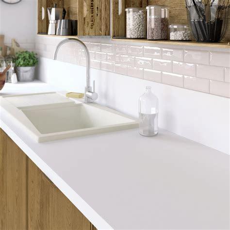 plan de travail cuisine blanc plan de travail stratifié mat edition blanc mat l 315 x p