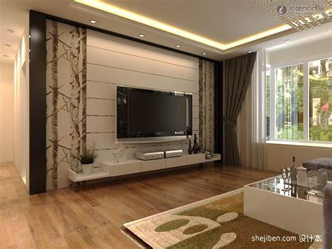 Modern Rendering Of Tv Background Wall Decoration1224