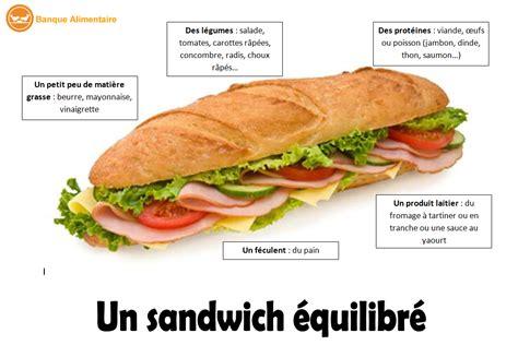 recette de cuisine équilibré un sandwich équilibré