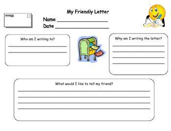 writing  friendly letter graphic organizer  tiffany