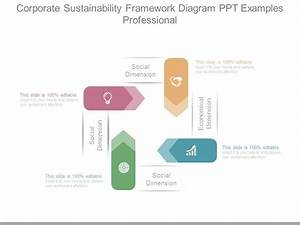 Corporate Sustainability Framework Diagram Ppt Examples