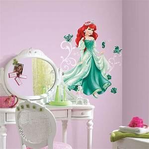disney princesse 1 sticker geant 96 cm de ariel robe With tapis chambre bébé avec bon de reduction tapis champ de fleurs