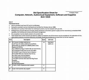 sample bid format idealvistalistco With tender specification template