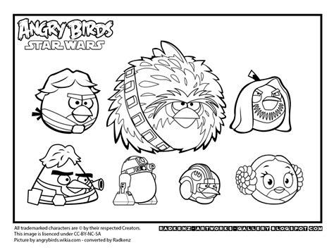 Angry Birds Star Wars Coloring Pages Printable - Democraciaejustica