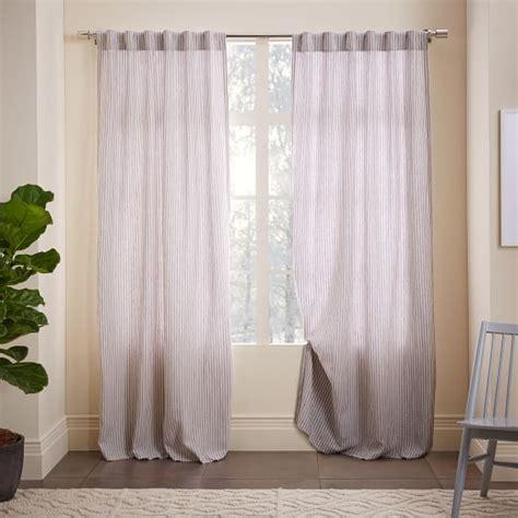 west elm linen curtains striped belgian flax linen curtain west elm